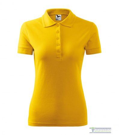 Ingnyakas póló női sárga
