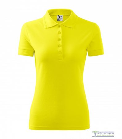 Women collar Tshirt( Polo shirt) lemon ice