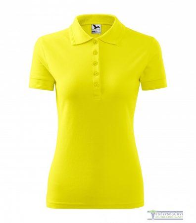 Women collar Tshirt( Polo shirt) lemon ice