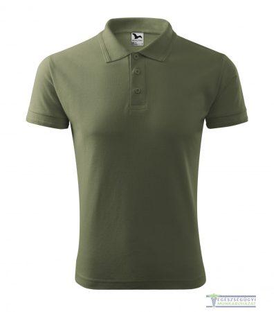 Ingnyakas póló férfi khaki