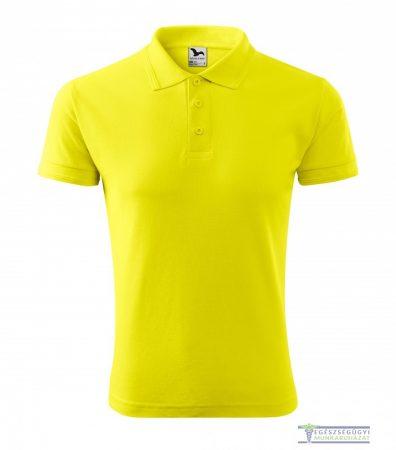 Ingnyakas póló férfi citrom
