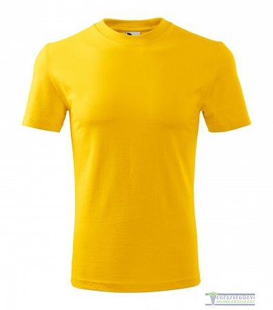 Kerek nyakas férfi póló sárga