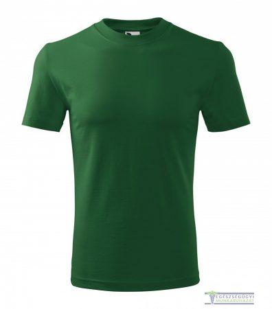 Men round neck Tshirt bottle green