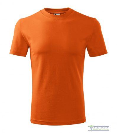 Kerek nyakas férfi póló narancssárga