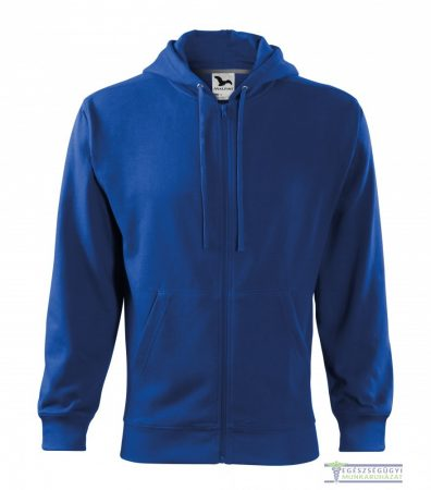 Men Hooded Zipper Sweater Royal blue