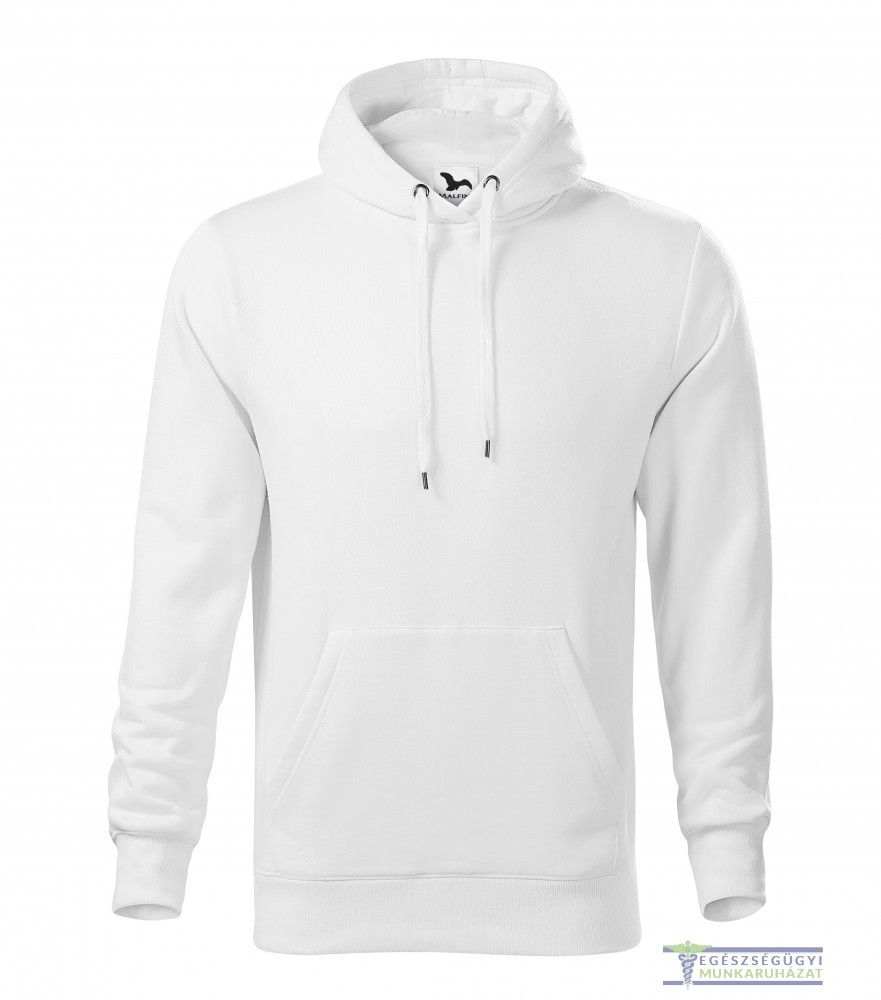 Kapucnis belebújós férfi pulóver fehér