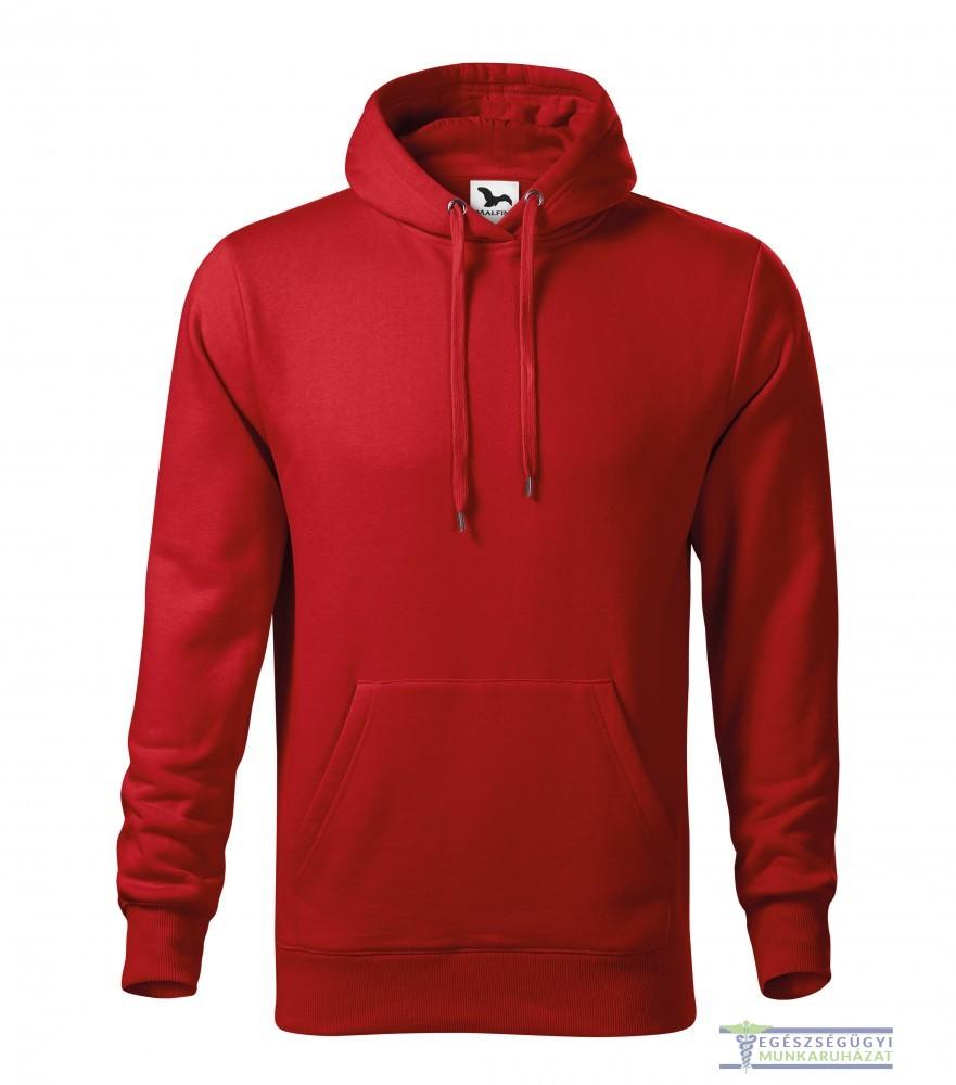 f16d16112f Kapucnis belebújós férfi pulóver piros - Egészségügyi munkaruházat