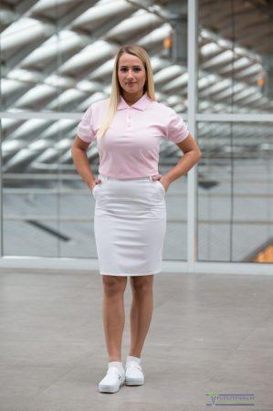Denim tailored stretch skirt