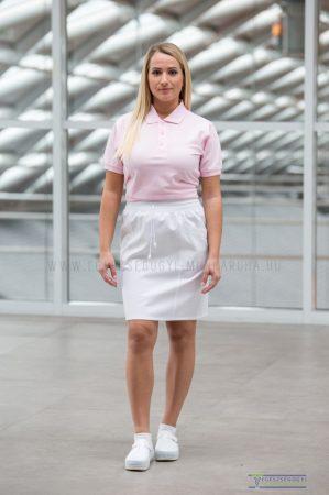 Tailored waist skirt white