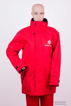 Piros mentös kabát