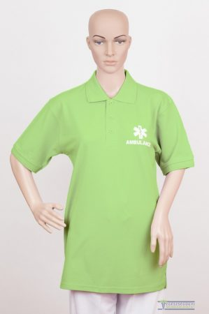 Collar Tshirt( Polo shirt) unisex apple green