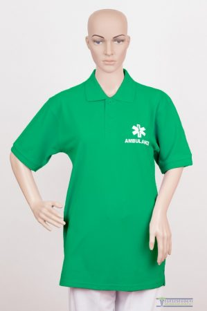 Collar Tshirt( Polo shirt) unisex forest green