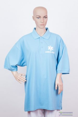Collar Tshirt( Polo shirt) unisex sky blue