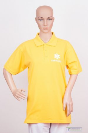 Collar Tshirt( Polo shirt) unisex lemon ice