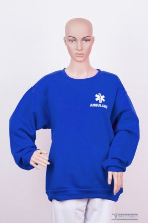 Round neck sweater royal blue