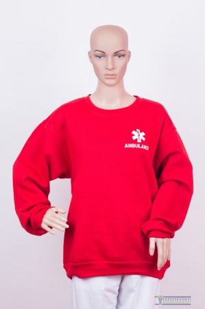 Round neck sweater red
