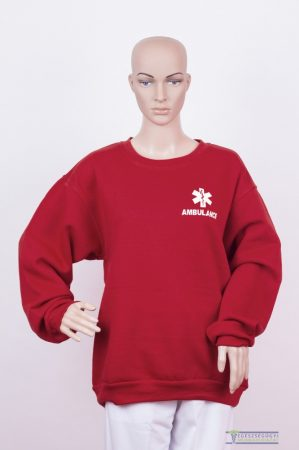 Round neck sweater claret