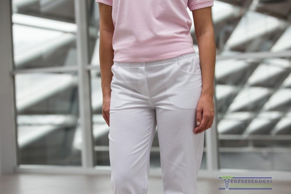 38cfcc7576 White trouser with rubber waist - Egészségügyi munkaruházat