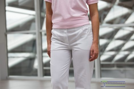 White trouser with rubber waist