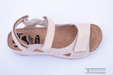 Anatomical Crossband Women's Slippers - Beige
